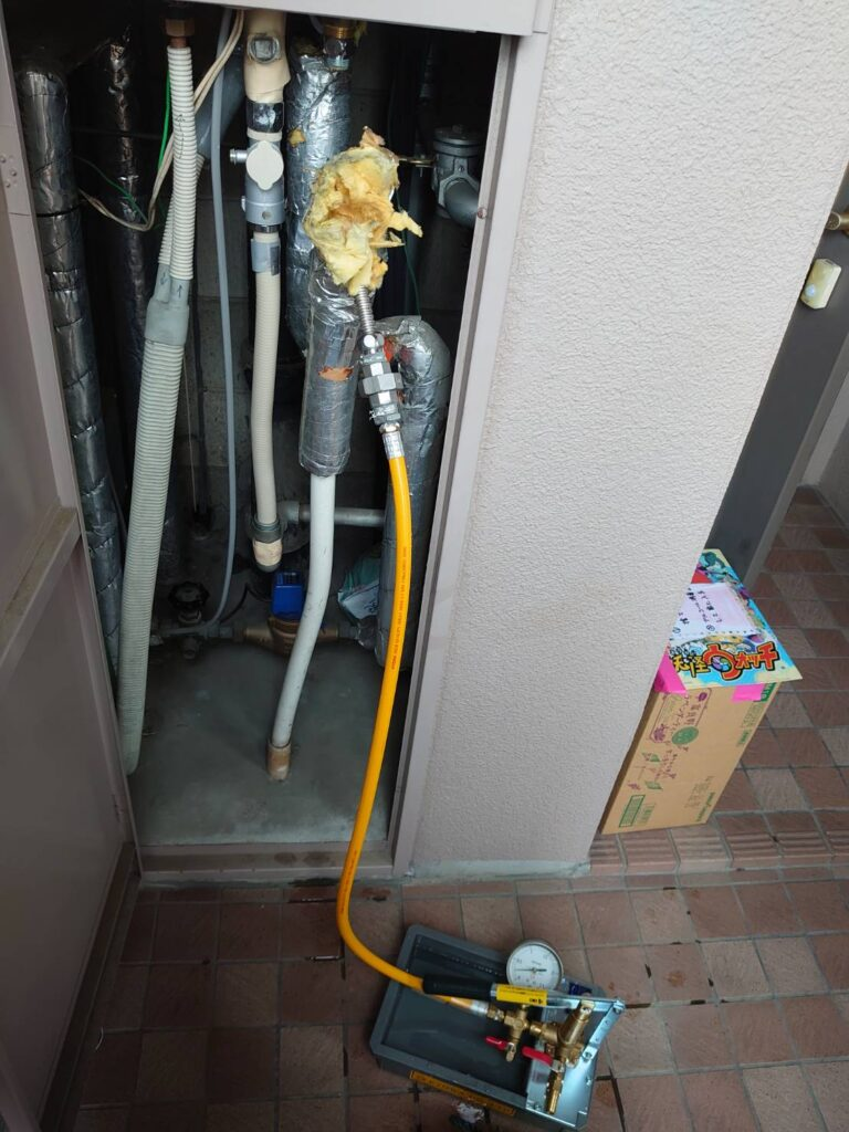 テストポンプ水圧調査